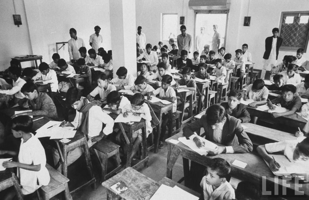Student Examination Room - Calcutta (Kolkata) December 1970