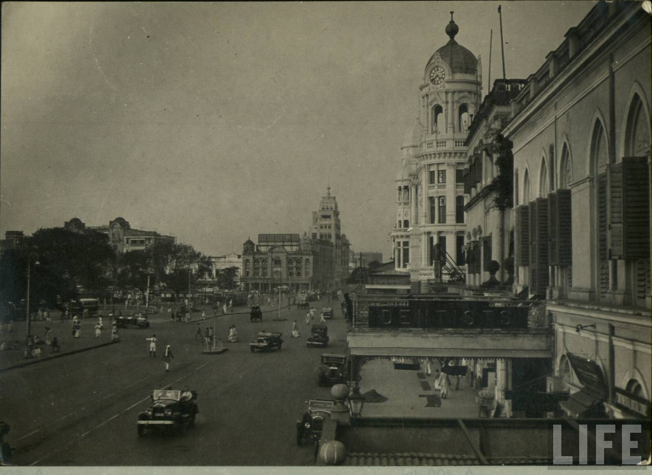 View of Esplanade in Calcutta (Kolkata)