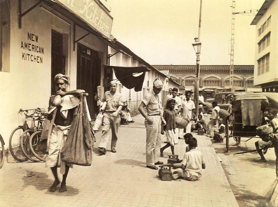 Calcutta Street Scene 1945