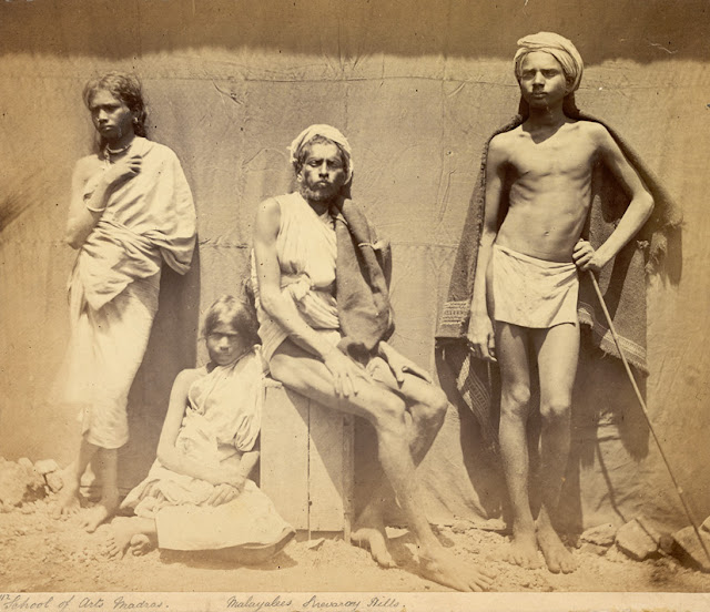 Photograph+of+two+men+and+two+women+of+the+Malaiyali+tribe+in+the+Shevaroy+Hills+in+Tamil+Nadu+-+1860
