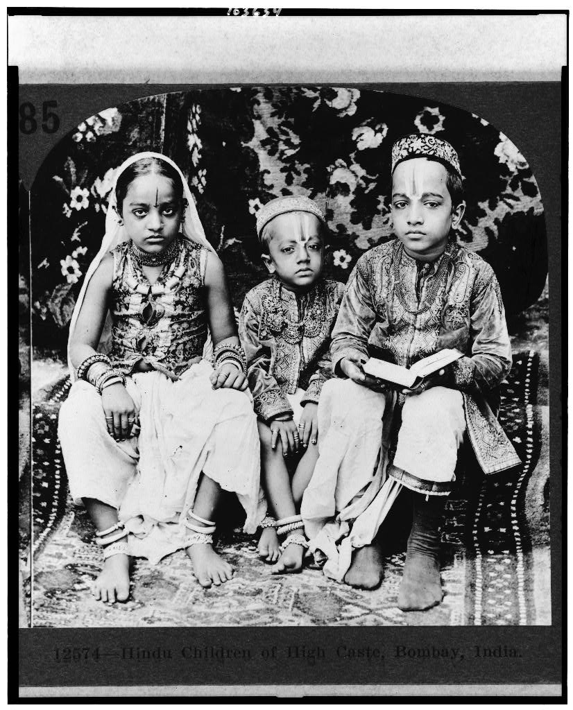 Hindu children of high caste, Bombay (Mumbai), India - 1922
