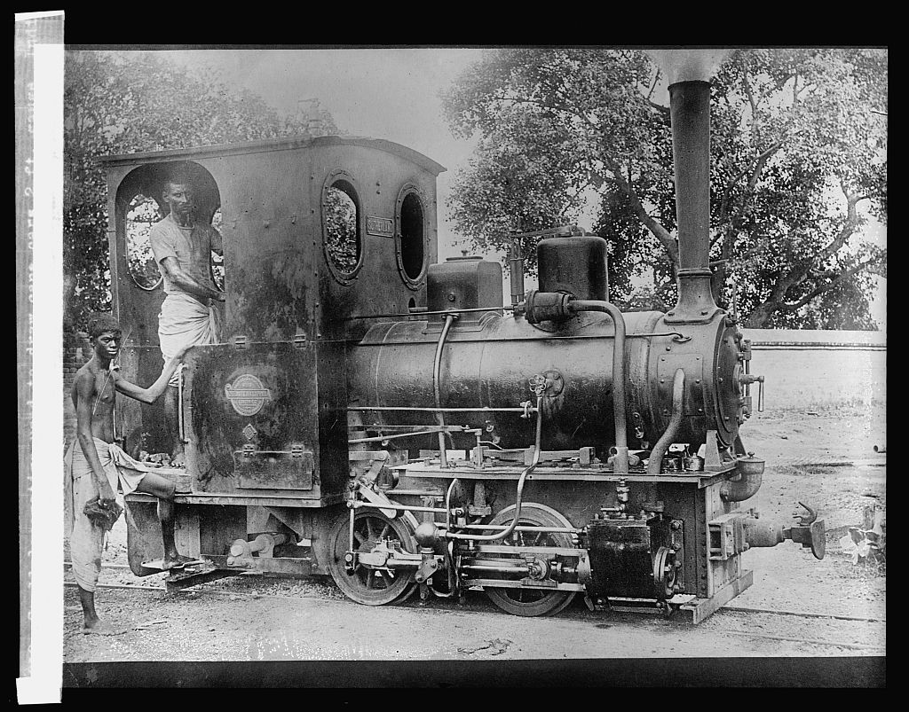 Small locomotive used to draw cane cars 2 ft. gauge -  India