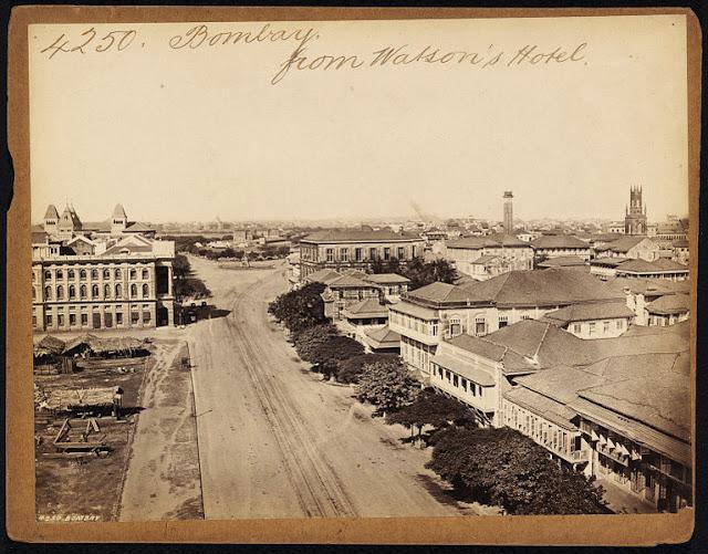 Bombay+%2528Mumbai%2529+from+Watson%2527s+Hotel+-+19th+Century+photograph