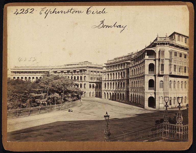 Elphinstone+Circle+2+-++Bombay+%2528Mumbai%2529+-+19th+Century+Photograph