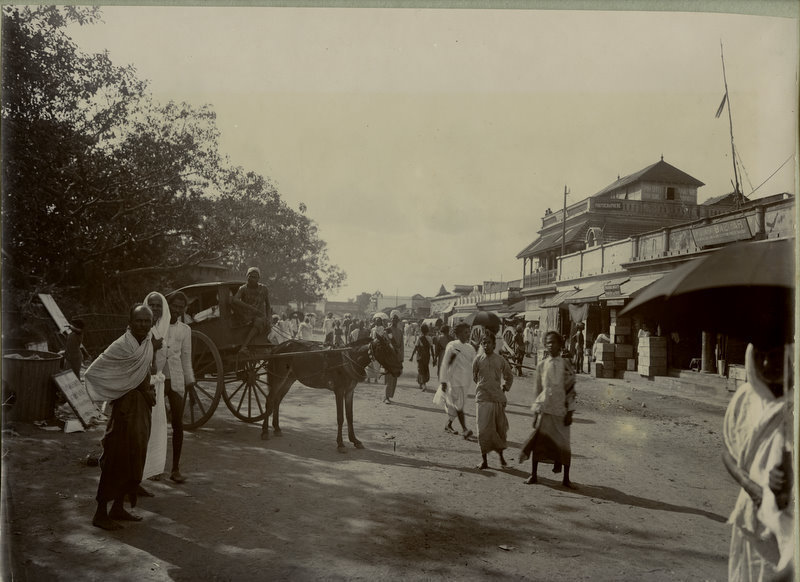 Street Scene Madras (Chennai) - India 1890's