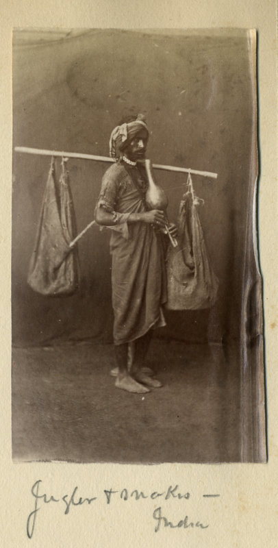 c.1880%2527s+PHOTO+INDIA+SNAKE+CHARMER