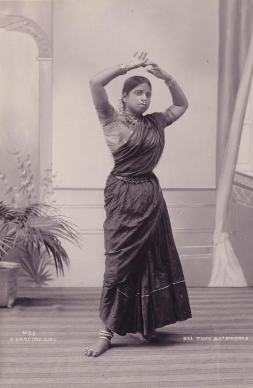 Albumen Photograph of a Dancing Girl - Madras