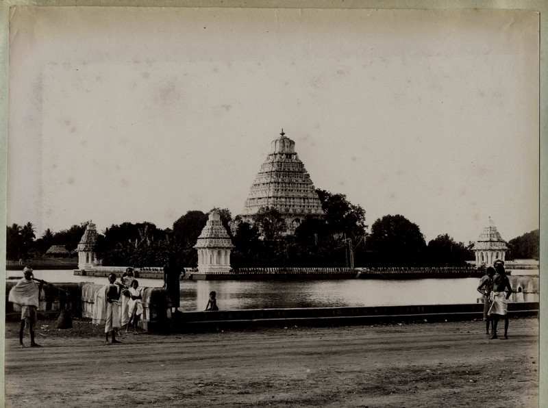 Water Tank with Temple in Background - Madura, Tamil Nadu - 1890's
