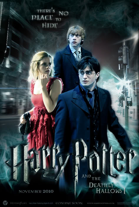 harry potter 7 movie poster. harry potter 7 movie cover.