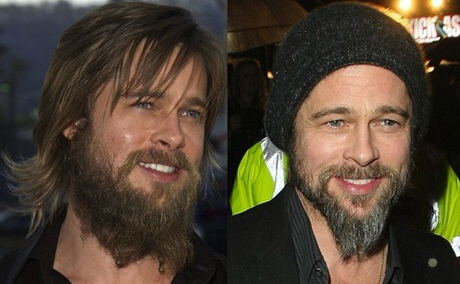 brad pitt beard movie. Brad Pitt used to have that