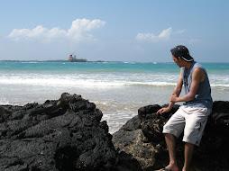 Vista desde la playa en Isabela