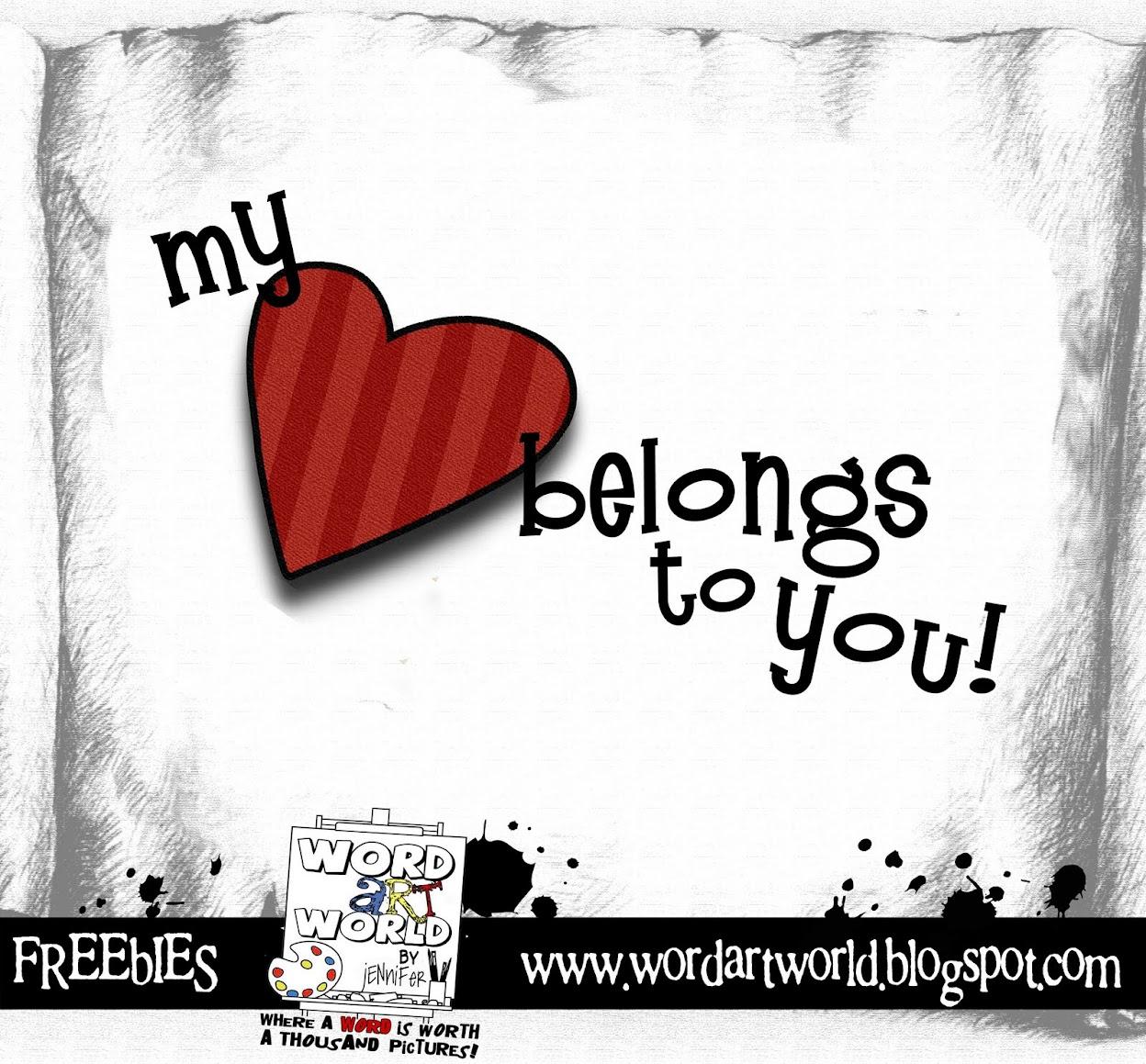 My heart belongs to you gif