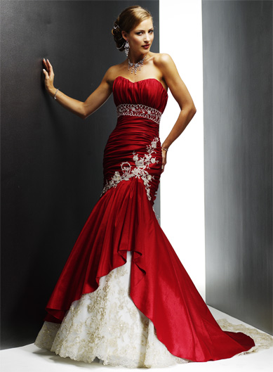 Gorgeous Wedding Dress Gorgeous Red Wedding Dress
