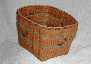 red cedar duck basket by Wilderness Basketry