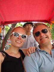 Paa richshawtur i Hanoi