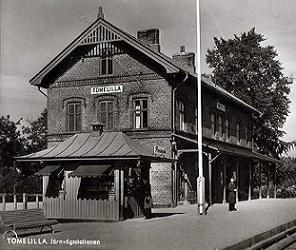 tomelillas stationshus tidigt 1900tal