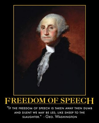 obama  freedom of speech