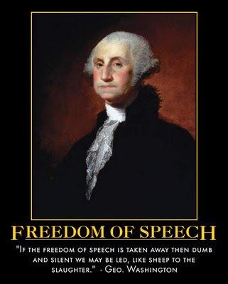 obama  freedom of speech