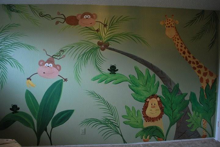 Cynthia newberry 39 s creative studio baby cruz 39 mural for Baby jungle mural
