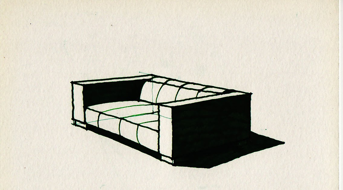 Learn to draw: How to draw a sofa
