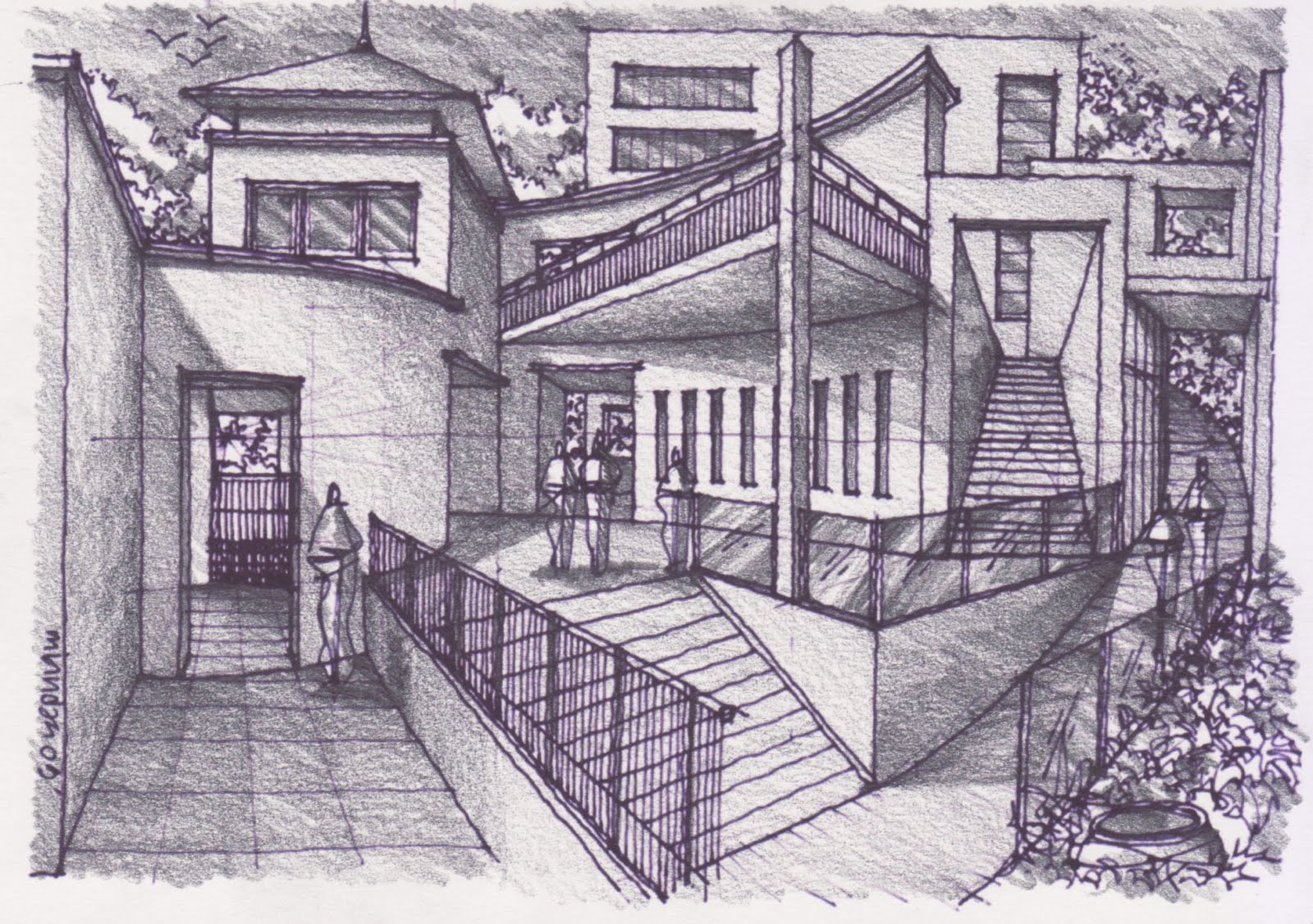 How To Draw Complex Spaces 141109 Pencil Rendering Learn To Draw