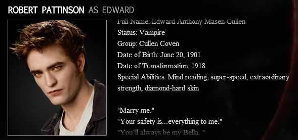 Twihards dating quotes