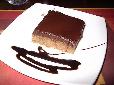 Pastís d'ametlles i xocolata