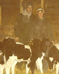 Pat's mom took this picture after milking the cows one morning shortly after we were married.