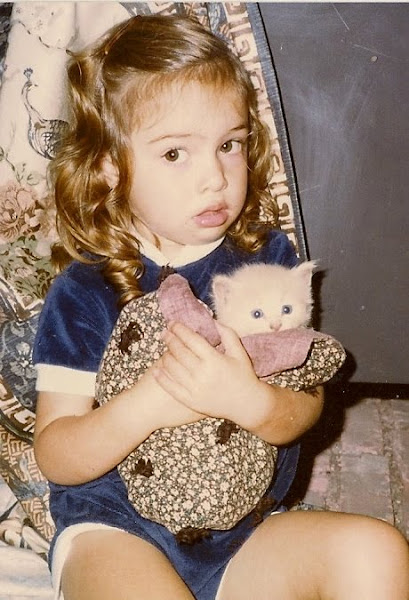 It doesn't get much cuter than this - Ruth Ida Rose with a forever remembered baby kitty...