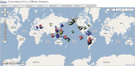 Terremotos Google Maps en Tiempo Real