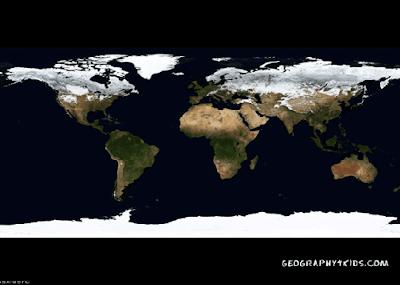 Wallpaper Mapa fotografía de Satélite