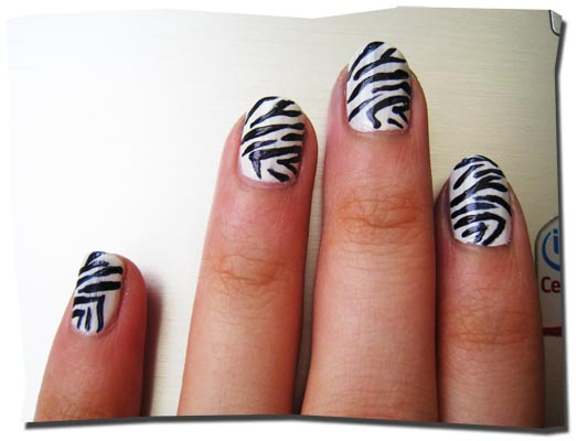 How To Get Zebra Print Nails Without Konad Nail Stamps Emilys