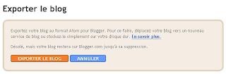 exporter le blog