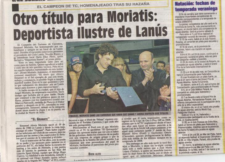 EMANUEL MORIATIS PROFETA EN SU TIERRA
