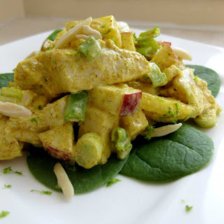 Dragon's Kitchen: Curry Chicken Salad With Mango and Apple