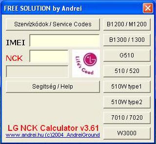 Unlockitfree: LG NCK Calculator v3.61