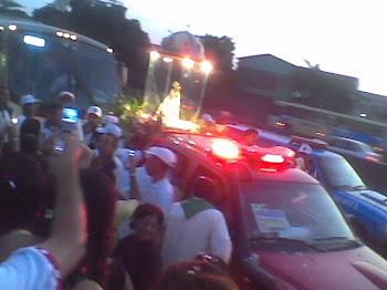 Nossa Senhora do Círio de Nazaré passa na Frente do Santuário da Paz!