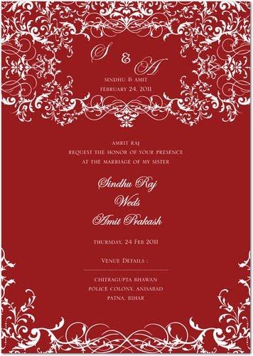 Amrit Raj: My Sister Wedding Invitation