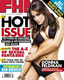 Australia FHM: Donna Feldman, America's Hottest New Superstar Model