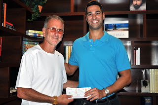 Boy Butter's Eyal Feldman Presents $1,750 Check to JHA