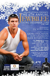 Gay Jewish NYC Party, 4th Annual Jewbilee on Thursday, December 23rd