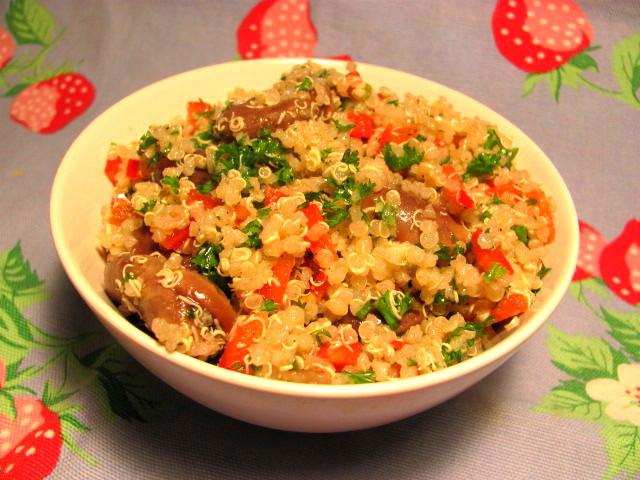 fava bean quinoa salad makes about 3 cups of salad