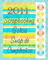 SWAP CUMPLEAÑOS SCRAPBOOKING GALICIA