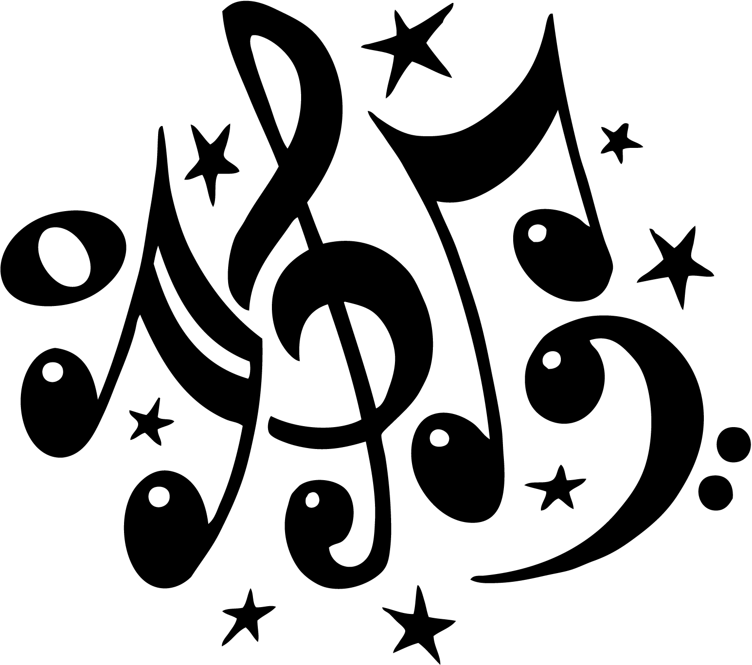 Mu music notes tattoo designs -  Music Notes Tattoos