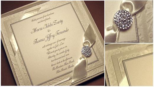 Amber Lane Living Fabric Box Wedding Invitations, Wedding Invitations