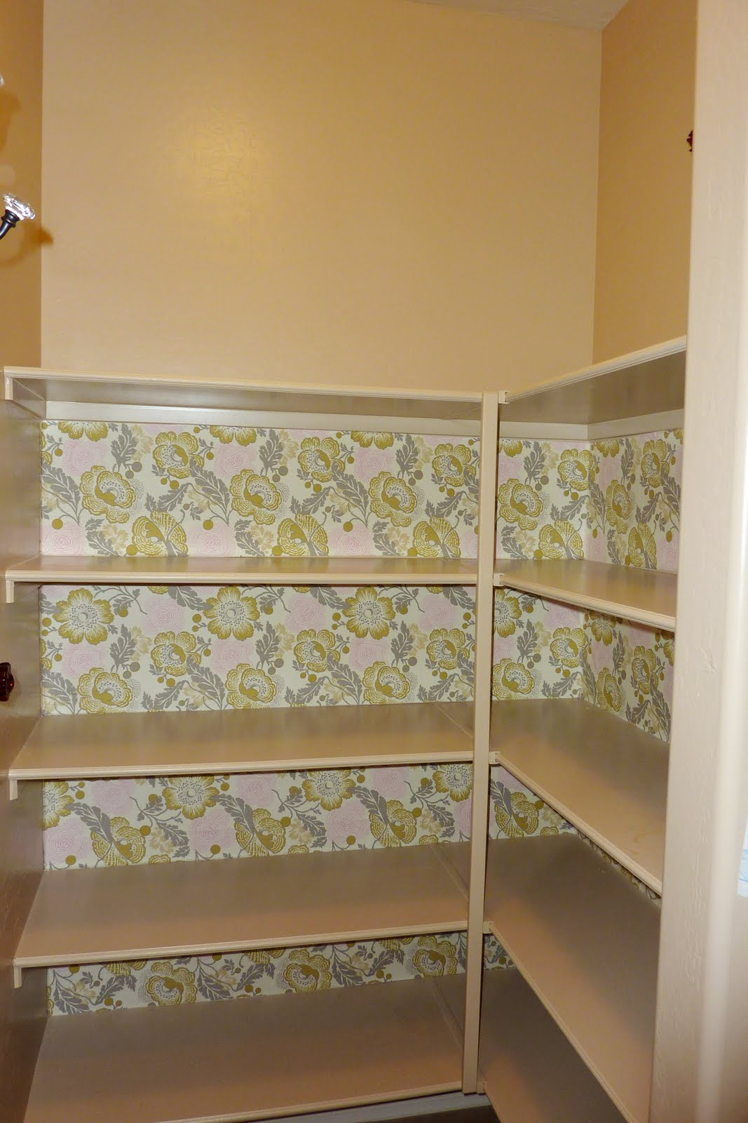 Contact Paper For Walls amber lane living: pantry redo, with mod podged fabric contact paper