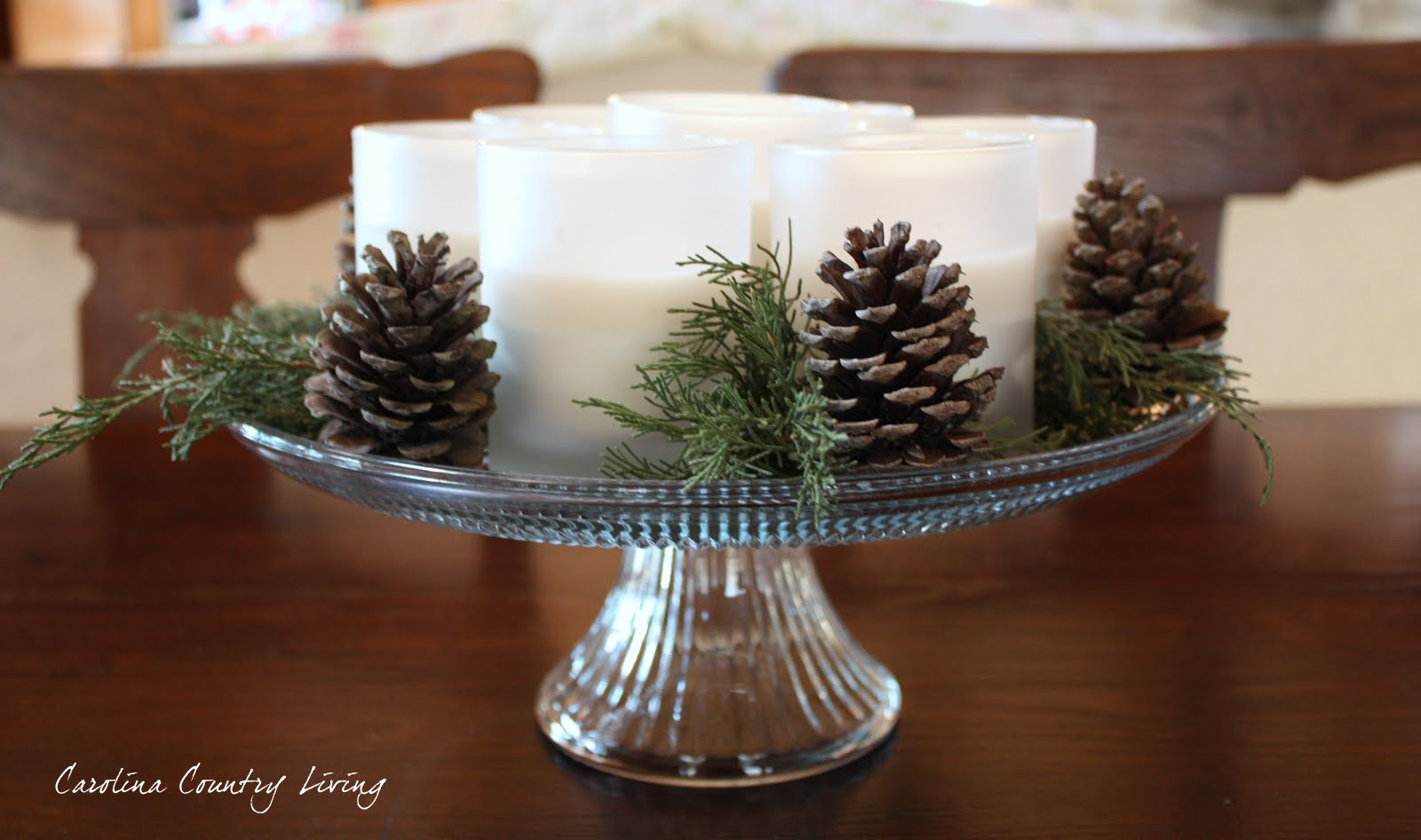 Carolina country living simple winter centerpiece