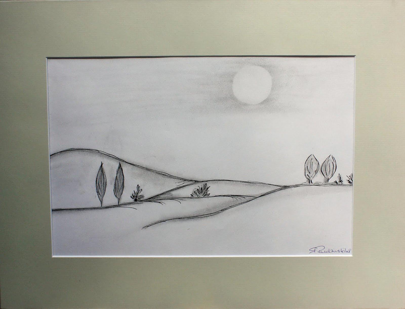 Kunstgewerbe Und Malerei Kohle Tusche Bleistift Zeichnung Titel