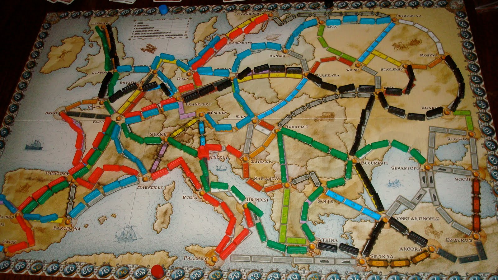 Game Theory Some Thoughts On Ticket To Ride Europe