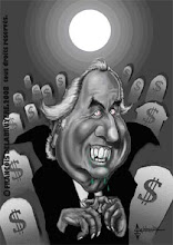 Caricatura de Bernard Madoff